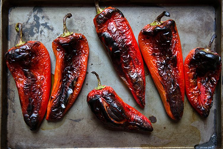Roasted Red Pepper in baking tray