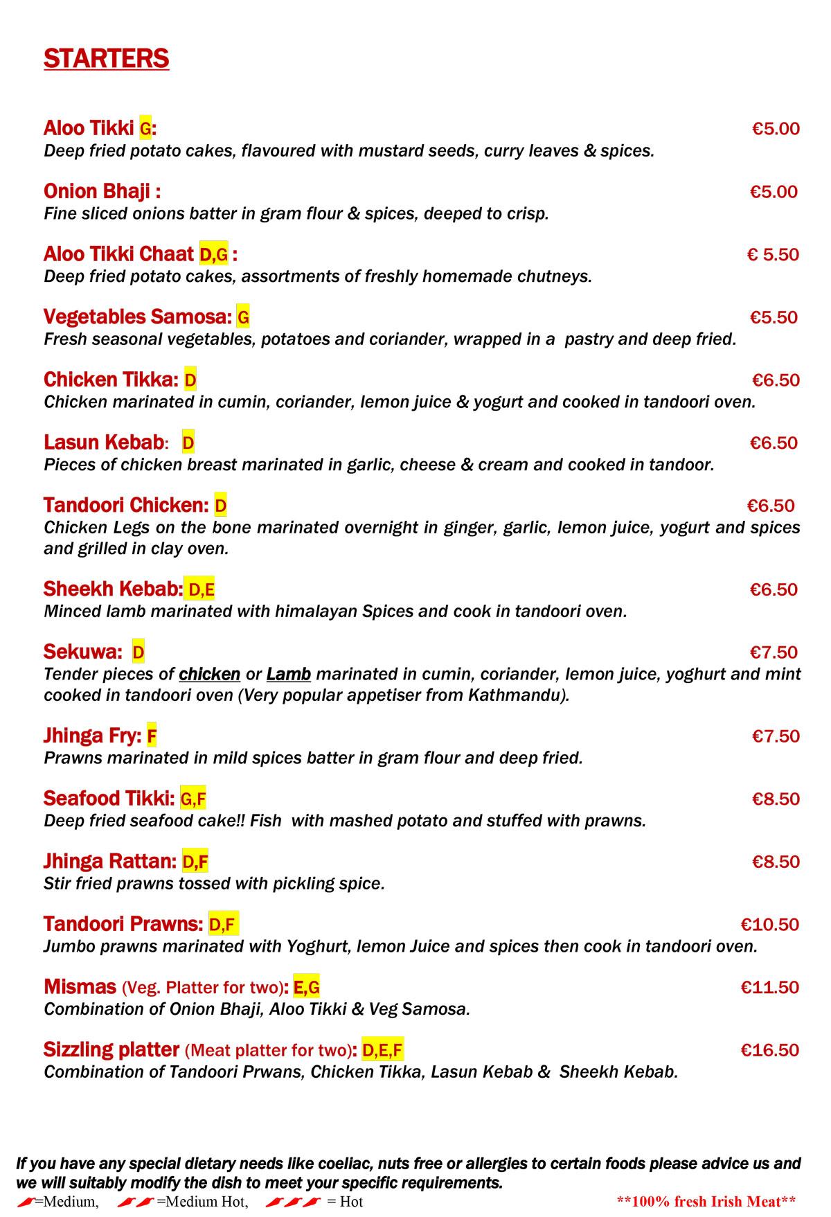 Restaurant Menu- Take Glimse of Kashmir Menu | Kashmir